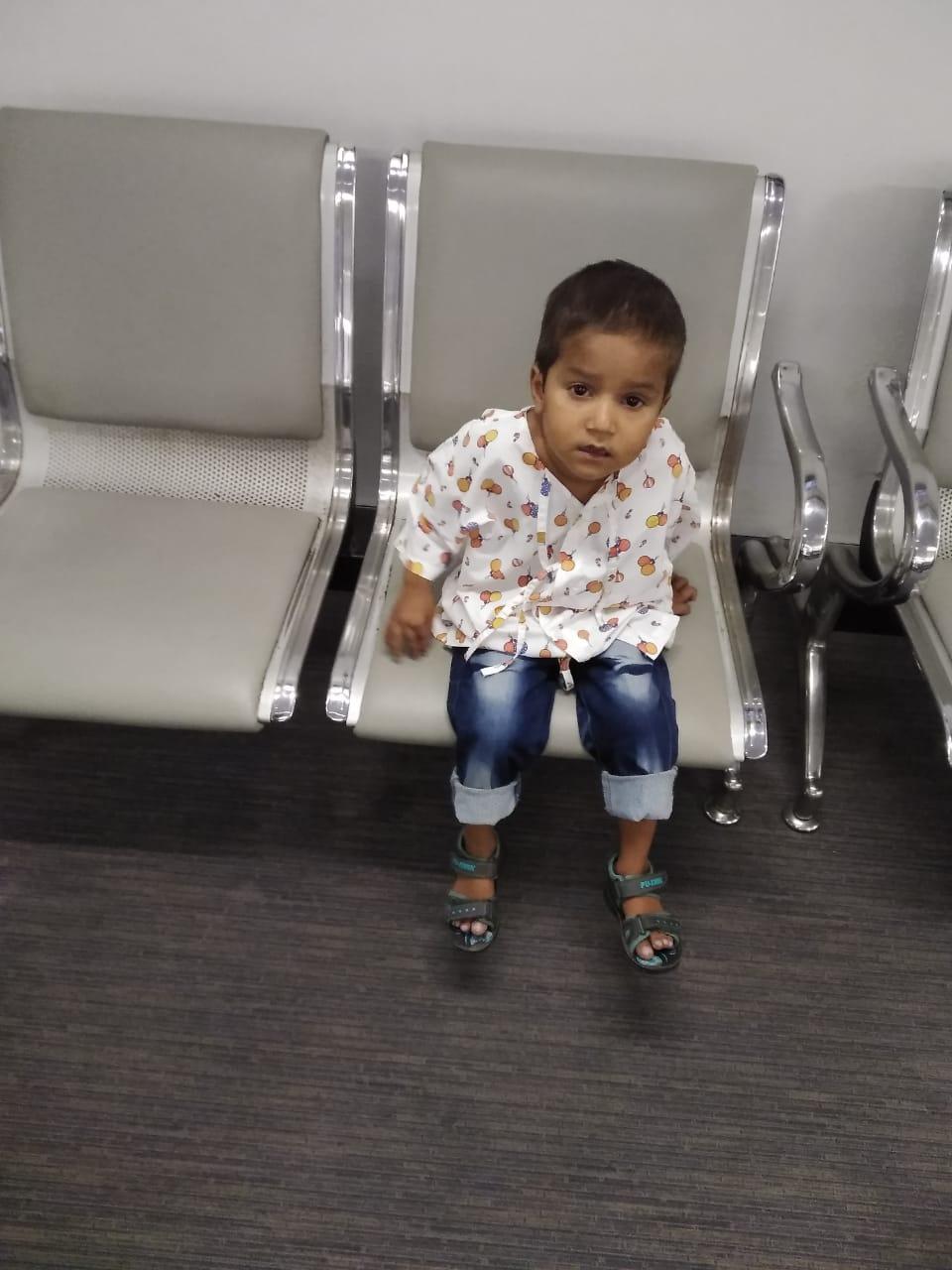 baby sajjad needs a tof surgery
